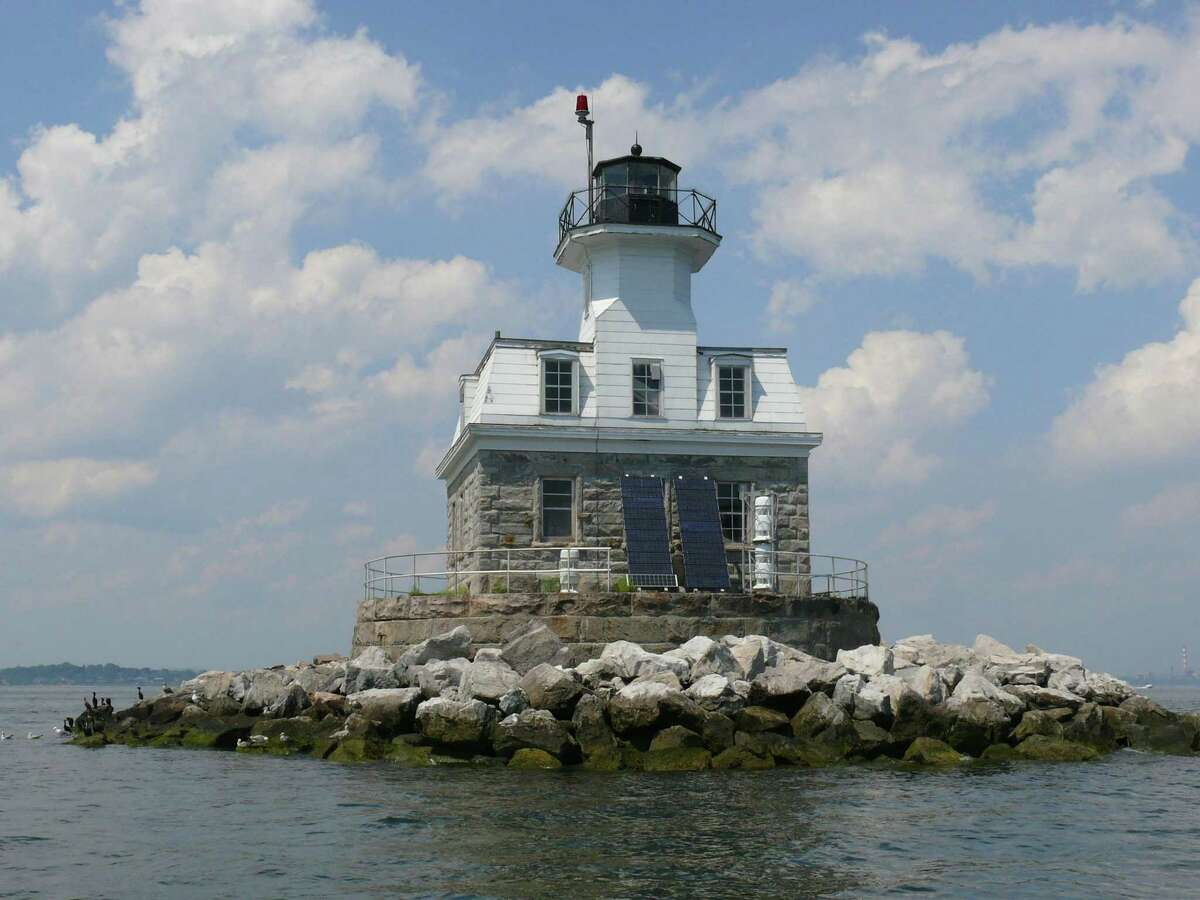 The Penfield Reef Lighthouse, in Long Island Sound off of Fairfield.