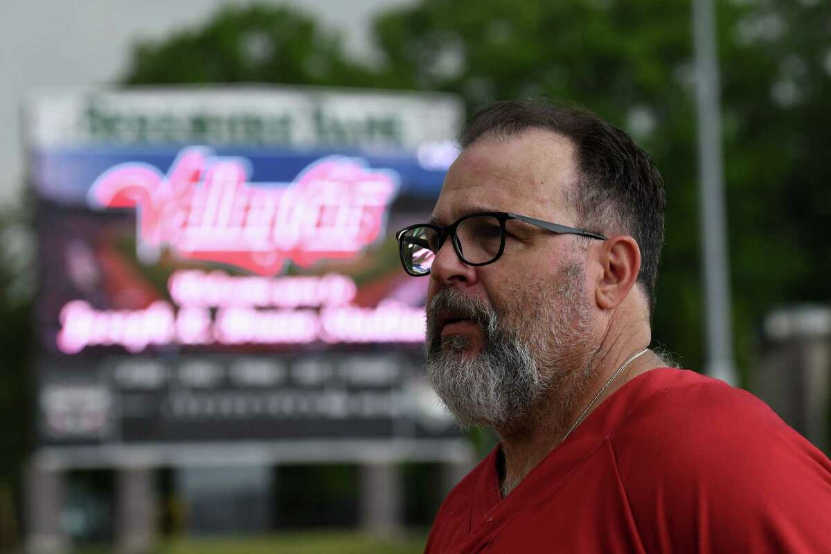 Tri-City ValleyCats manager Pete Incaviglia is interviewed during a media day event for the team on Wednesday, May 26, 2021, at Joseph L. Bruno Stadium in Troy, N.Y. (Will Waldron/Times Union)