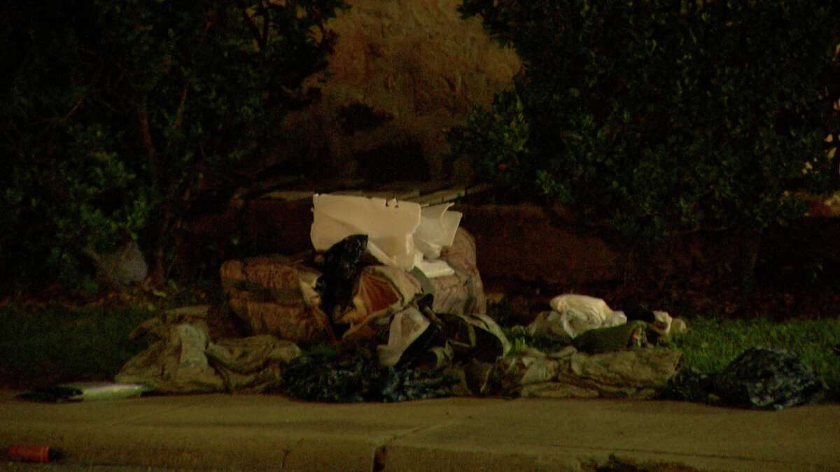 San Antonio police investigate the spot in the 9400 block of Perrin Beitel Road where a man was killed by a hit and run driver Tuesday night.