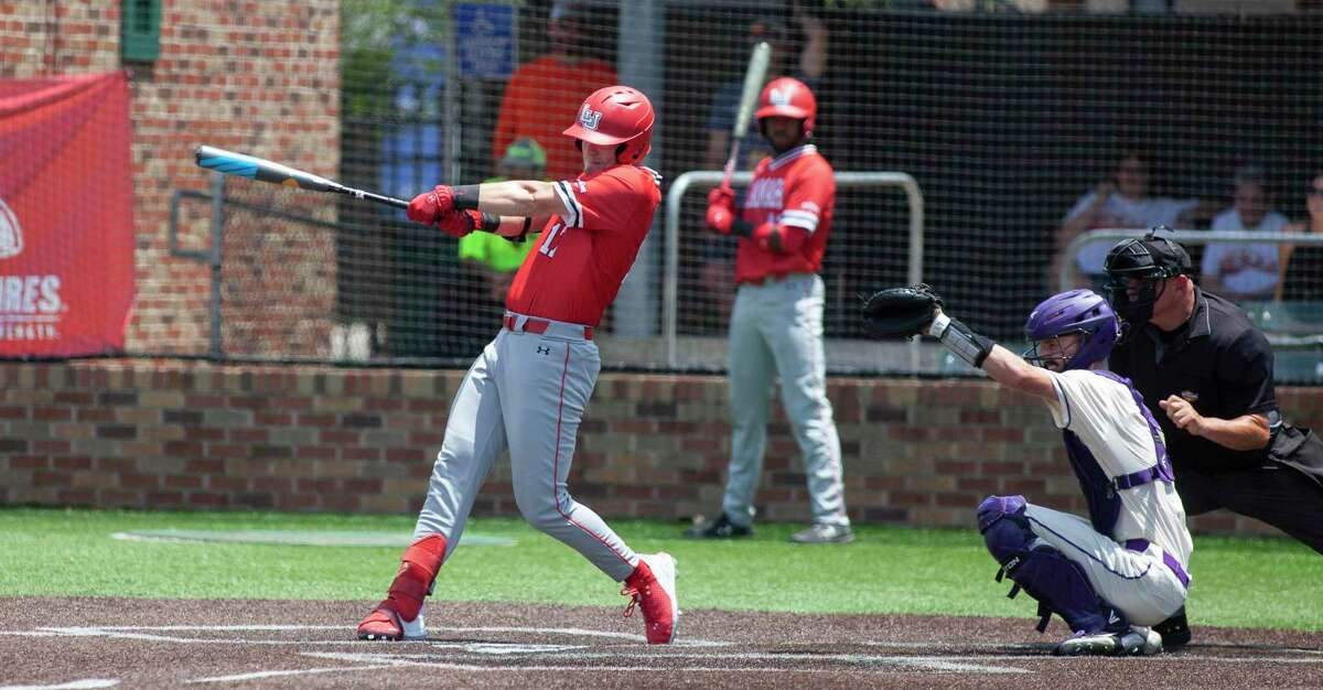 Chase Kemp takes a swing during Lamar's loss to Abilene Christian in the Southland Conference tournament on Wednesday in Hammond, Louisiana.