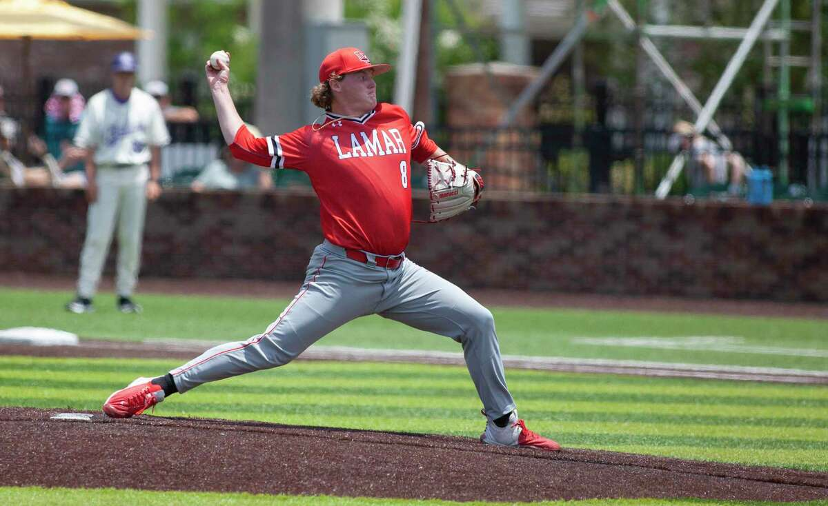 Lamar starting pitcher Trevin Michael entered the Southland tournament with a 16 inning scoreless streak, but
