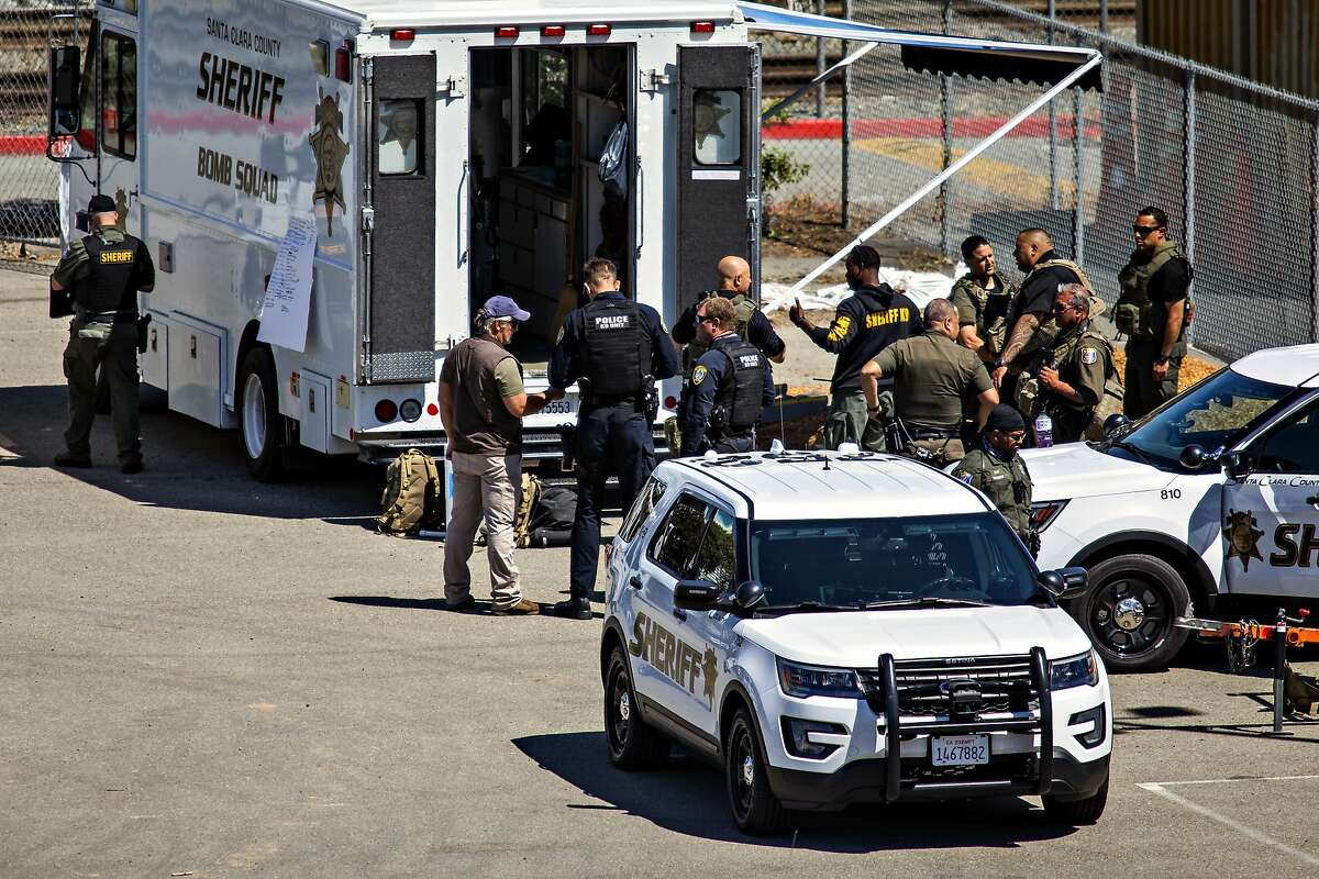 Emergency workers respond to the Valley Transportation Authority shooting last month in San Jose.