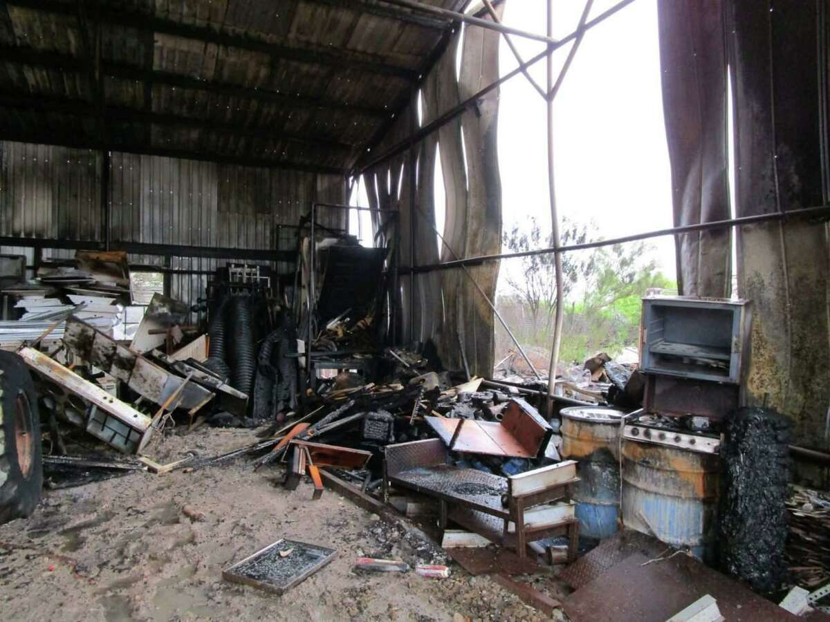 A warehouse fire on Texas 359 and EG Ranch Road caused the closure of Texas 359 on Wednesday morning for about 1 1/2 hours.