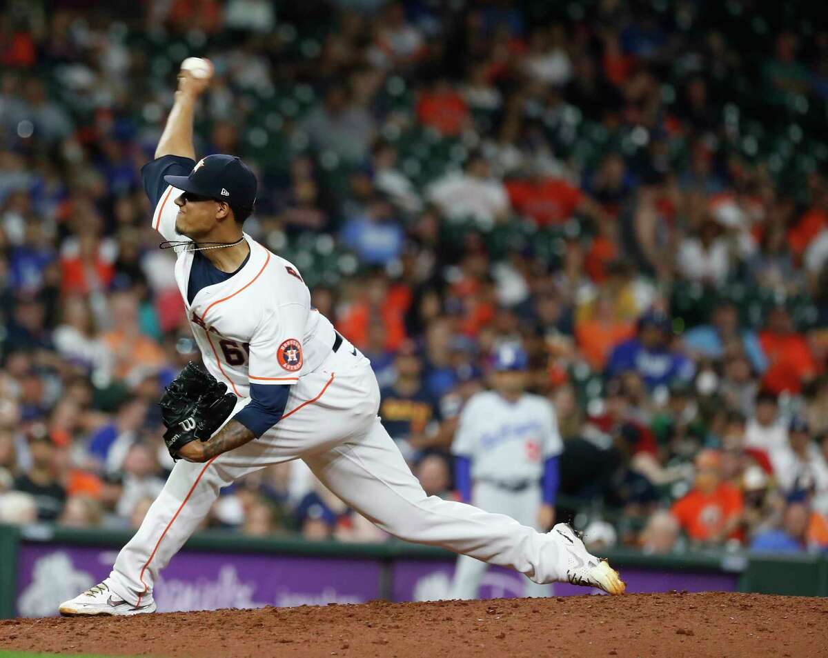 An injury suffered while shagging fly balls during batting practice landed Bryan Abreu on the injured list, another blow for a reeling Astros bullpen.