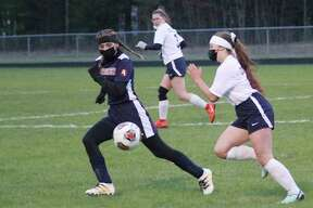 The Brethren girls soccer team's season came to a close on Wednesday in a district quarterfinal loss to Hart. (News Advocate file photo)