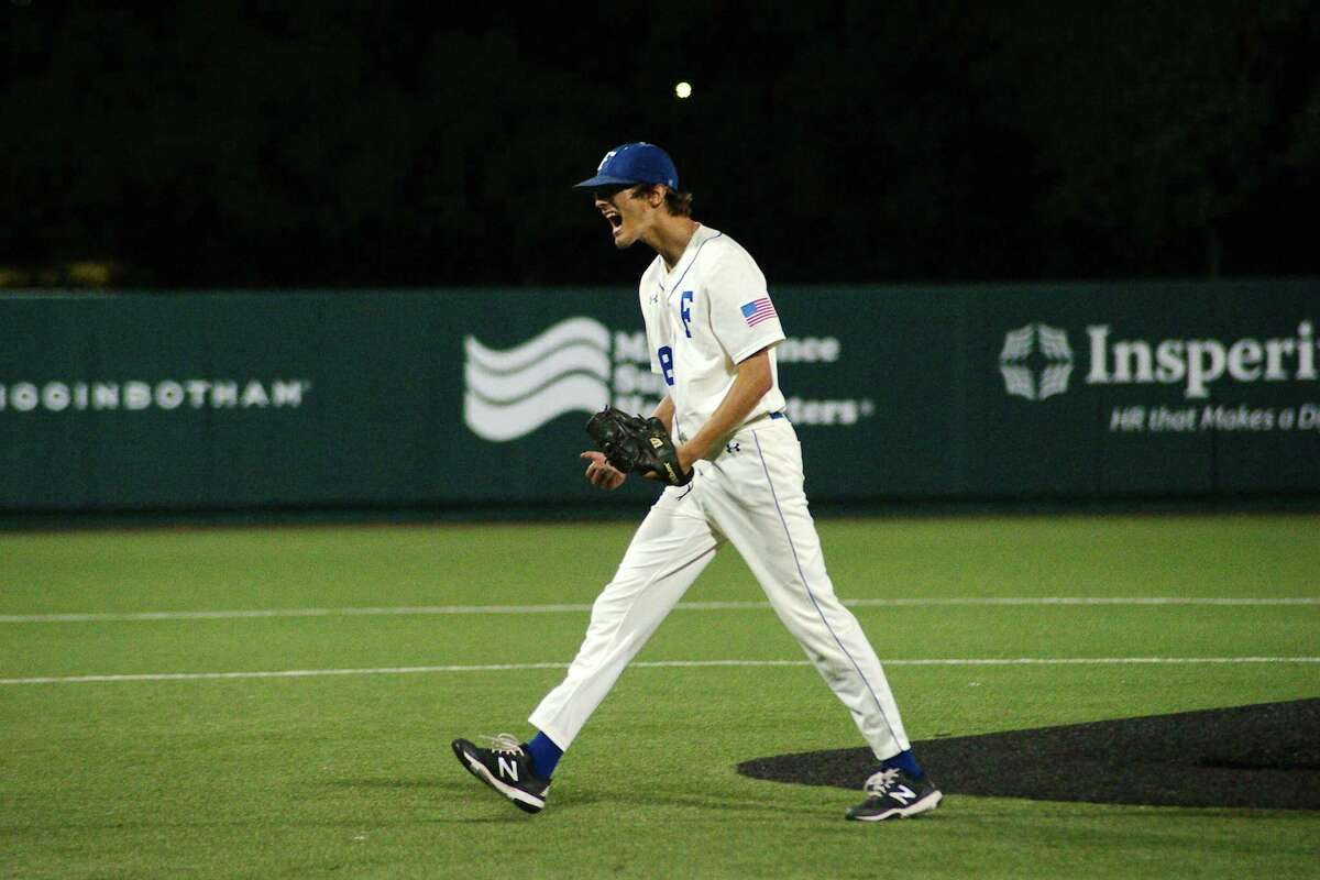 Friendswood's Griffin Kasemeyer worked six-plus innings of solid pitching to help lift the Mustangs to a 10-2 win over College Station Saturday in Houston.