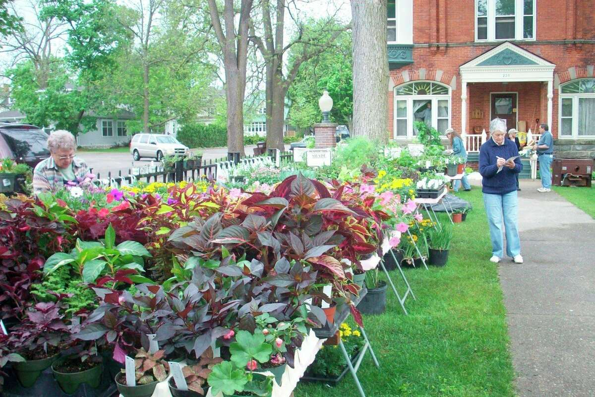 The Big Rapids Garden Club set up for its plant sale in 2017. (Courtesy photo)