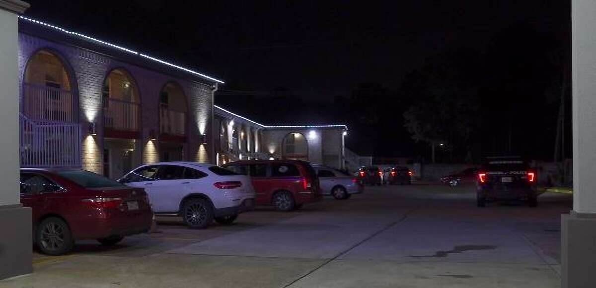 A man ripped through two walls of sheetrock in a north Houston hotel during a standoff with police for making a domestic violence threat late Wednesday night, according to authorities.
