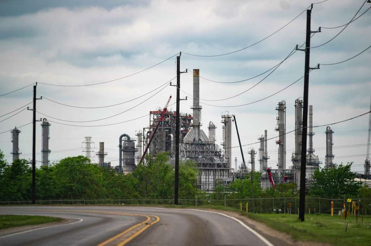 Industry in Mont Belvieu on April 15, 2021. Tax breaks under Texas' Chapter 313 program have subsidized scores of facilities in the town.