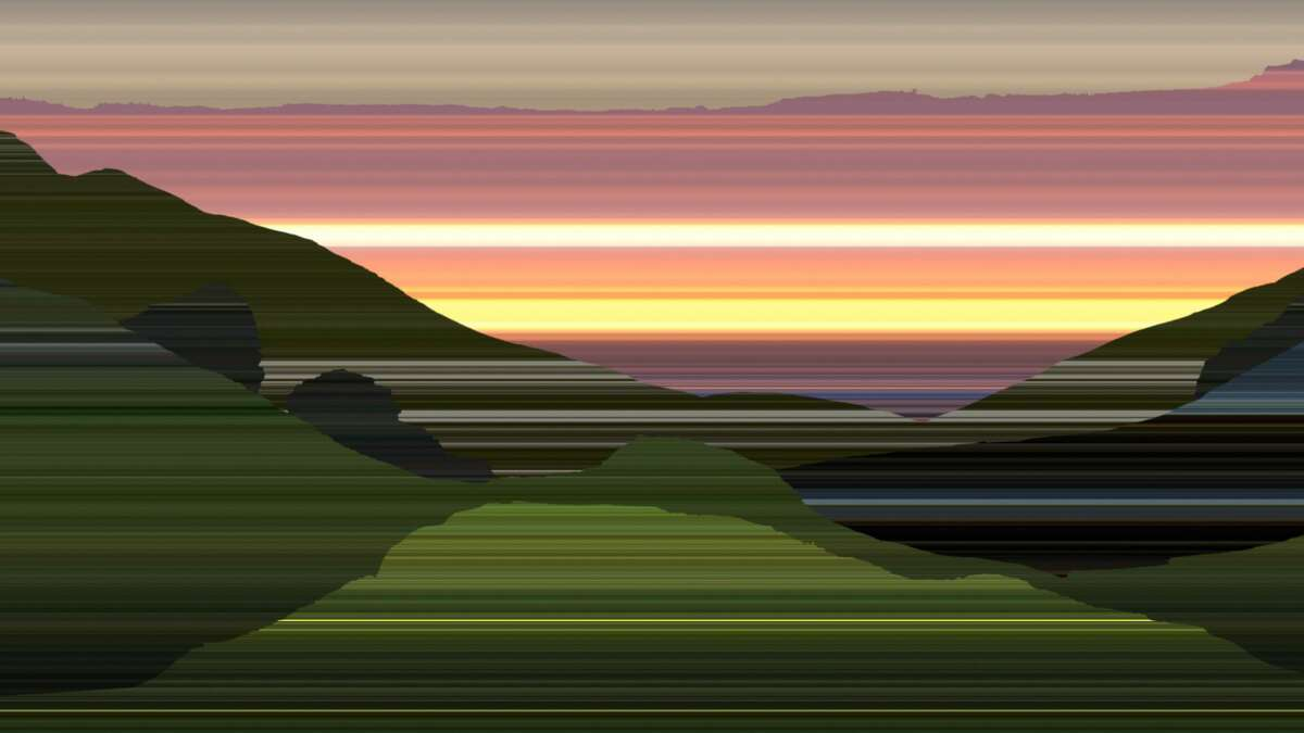 """A video still from Matt Frieburghaus' """"Midnight Sun,"""" among the 72 pieces by 46 artists in the exhibit """"Sunrise Sunset,"""" running through Aug. 30 at the gallery at Albany International Airport in Colonie. (Provided photo.)"""