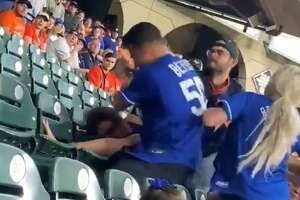 A fan fight at Minute Maid Park on Wednesday night was bloody and one-sided.