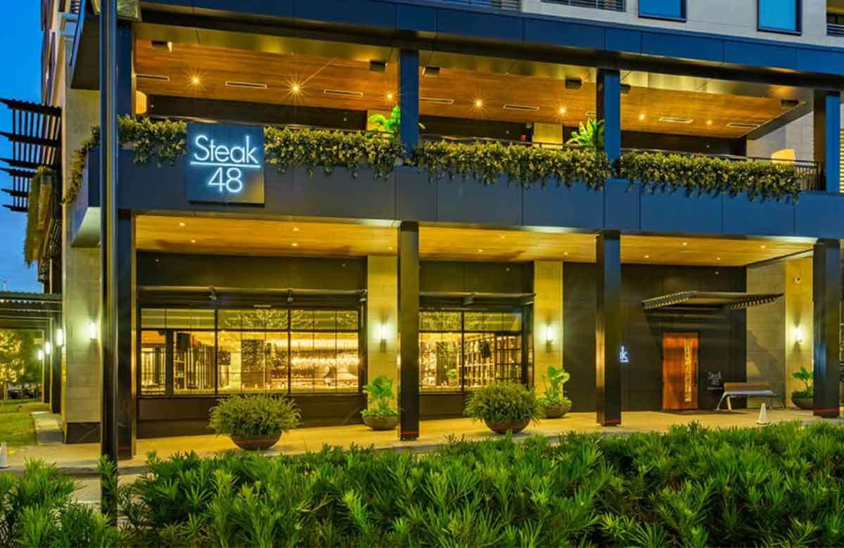 Houston's Steak 48, located in River Oaks.