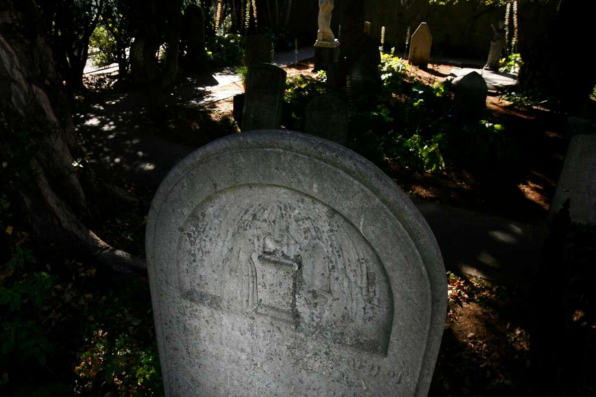 A grave marker in the cemetery at Mission Dolores in San Francisco, where Ann Moses is buried.