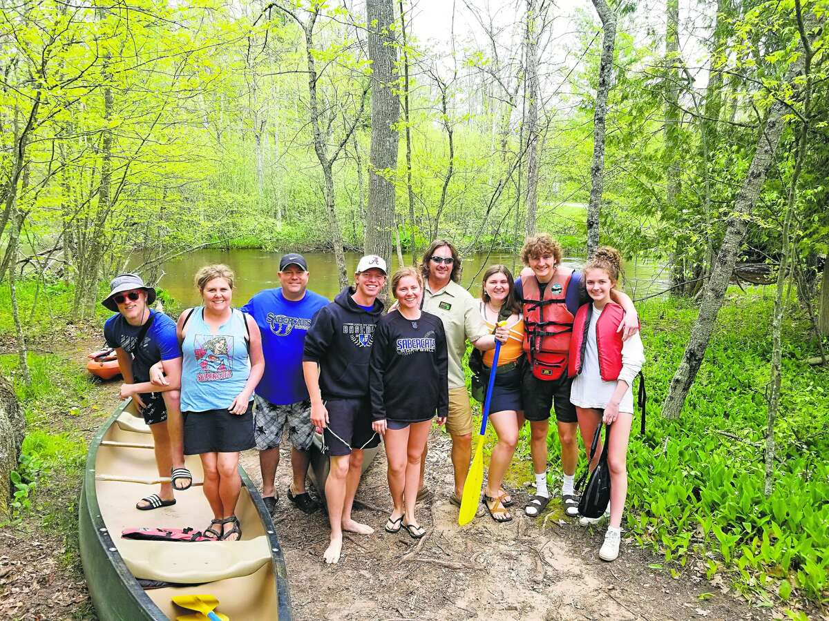 This group is getting ready to drop in the Little Manistee River at Nine Mile Road in Manistee County with help from Manistee Adventures last year.