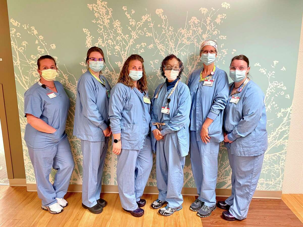 Big Rapids Hospital earned a platinum designation for maternal care from the Michigan Alliance for Innovation on Maternal Health. Pictured are workers from the hospital. (Courtesy photo)