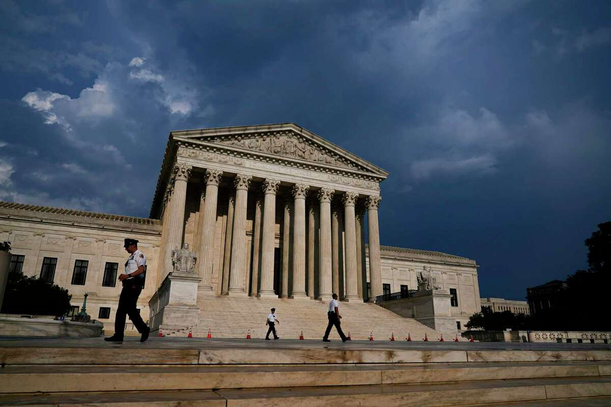 The U.S. Supreme Court unanimously ruled Thursday against the city of San Antonio in its fight with online travel companies over court costs. The Supreme Court building is seen under threatening skies following a storm Wednesday.