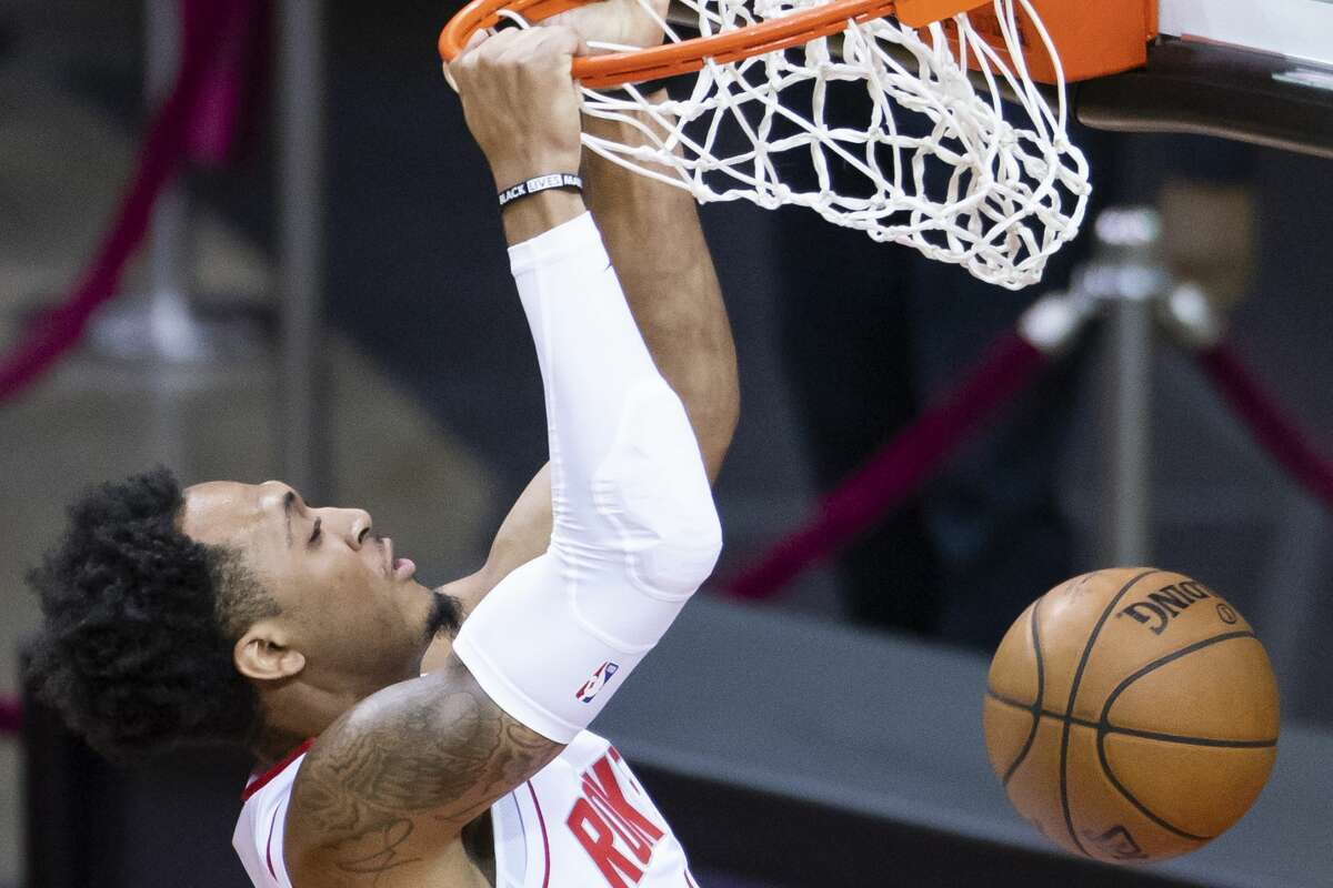 Pearland native and free agent Cam Reynolds played for the Rockets in the final two games of the season.