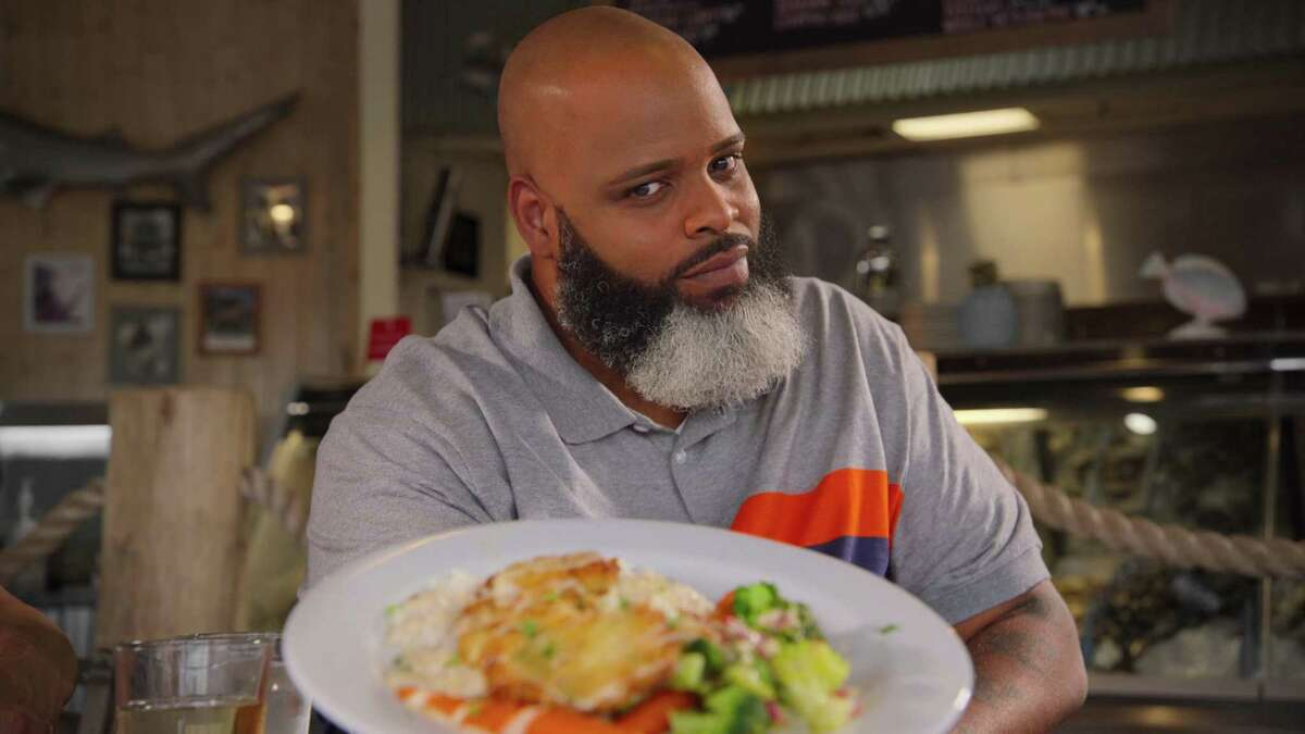 """Daymon """"Daym Drops"""" Patterson is pictured in the Denver episode of """"Fresh, Fried & Crispy."""""""