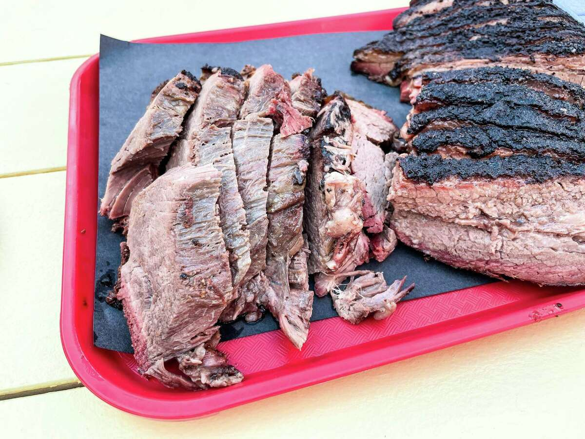 Beef shoulder clod is available as well as brisket at Dozier's BBQ.
