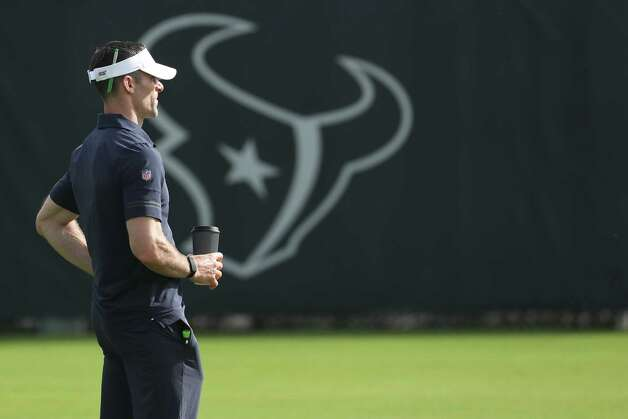 Houston Texans general manager Nick Caserio watches practice during team OTAs on Thursday, May 27, 2021, at The Houston Methodist Training Center in Houston. Photo: Brett Coomer, Staff Photographer / © 2021 Houston Chronicle