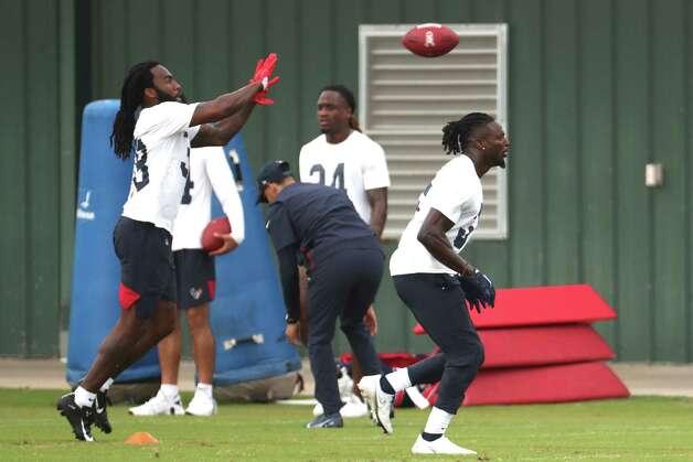 Houston Texans defensive backs work out during team OTAs on Thursday, May 27, 2021, at The Houston Methodist Training Center in Houston. Photo: Brett Coomer, Staff Photographer / © 2021 Houston Chronicle
