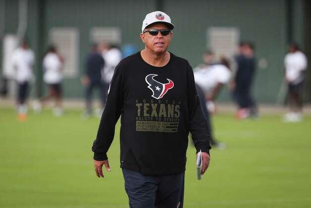 Houston Texans head coach David Culley walks on the practice field during team OTAs on Thursday, May 27, 2021, at The Houston Methodist Training Center in Houston. Photo: Brett Coomer, Staff Photographer / © 2021 Houston Chronicle