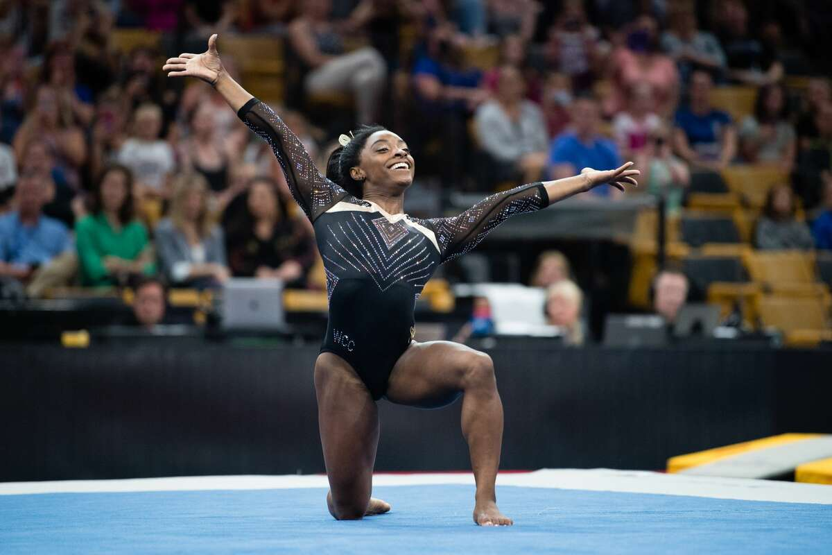 Olympic gymnast Simone Biles will be performing at Houston's Toyota Center October 8 as part of the Gold Over America Tour.