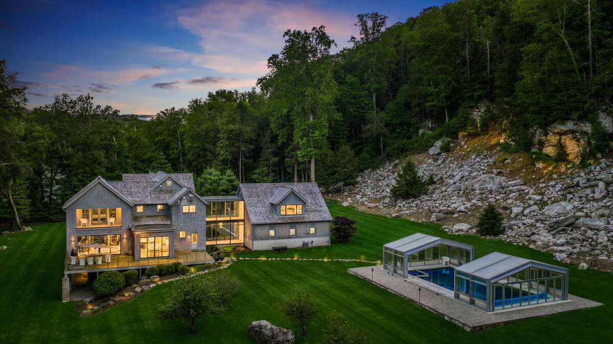 The home on 24 Martin Road in Weston, Conn. was listed as a