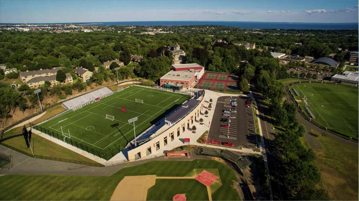 Registration is open for a variety of weeklong, and day in-person sports camps at Fairfield University, including basketball, field hockey, lacrosse, soccer, volleyball, and softball. Pictured is Rafferty Stadium at the university, where some of the sports are played.