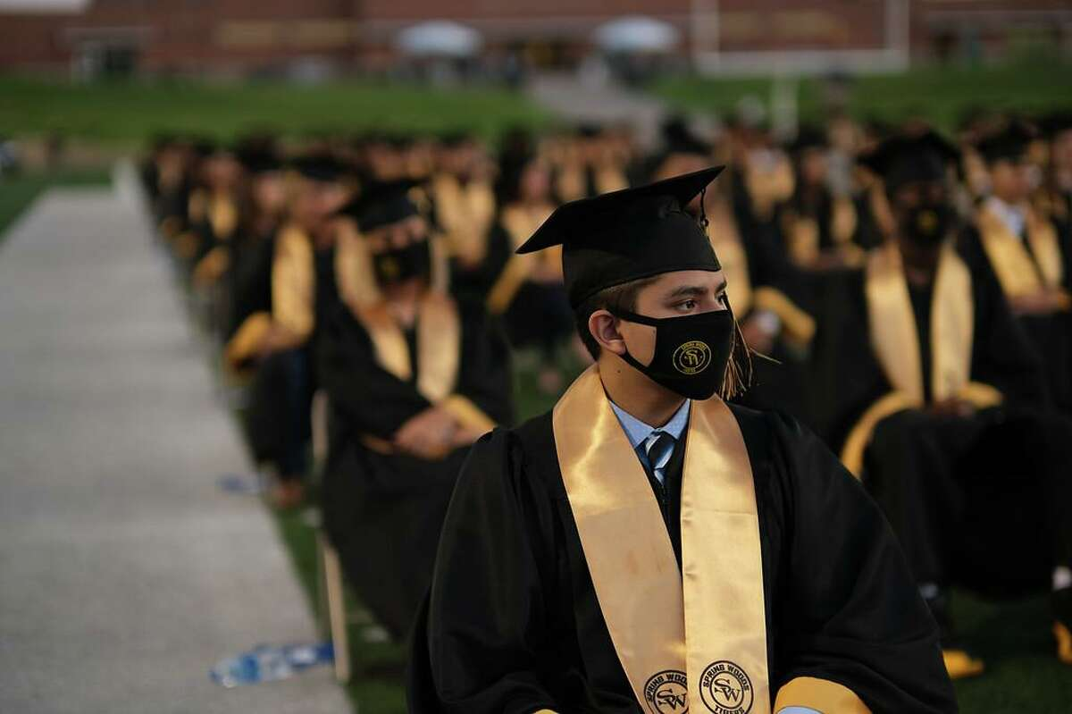 The Spring Woods class of 2021 graduated during a ceremony at Darrell Tully Stadium on May 26