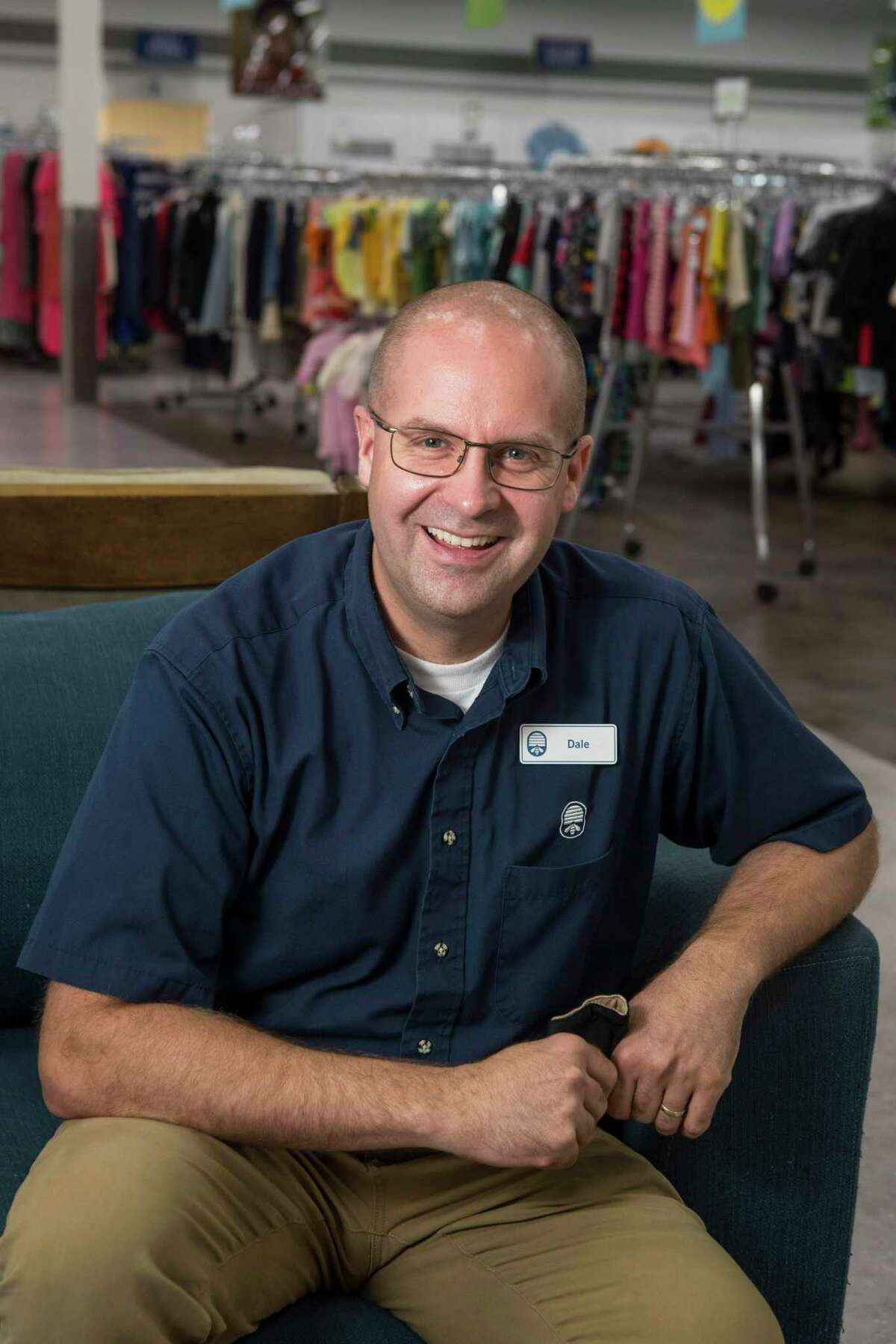 Dale Kerr, location manager of the new Deseret Industries store, poses for a portrait in the thrift store run by the the Church of Jesus Christ of Latter Day Saints Thursday, May 6, 2021 in Houston. The Deseret Industries stores started in 1938, as a general welfare initiative designed to help those in need by providing a high quality thrift store experience in modern large retails locations, while simultaneously providing job training and no-charge job placement services to anyone who needs them. They have always operated in the seven western states and they chose Houston for their first location east of the Rocky Mountains. It opened in Houston on April 15, on FM 1960 near the Willowbrook Mall and will serve the Houston area.