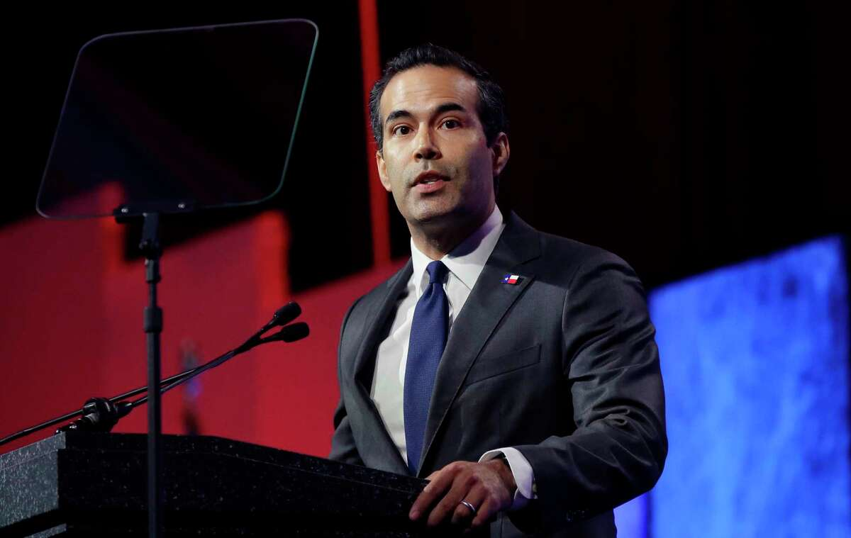 FILE - In this May 12, 2016 file photo, Texas land commissioner George P. Bush speaks at the Texas Republican Convention in Dallas.