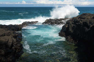A Los Angeles woman was swept out to sea at Queens Bath at Princeville, Kauai, Hawaii, in 2018.