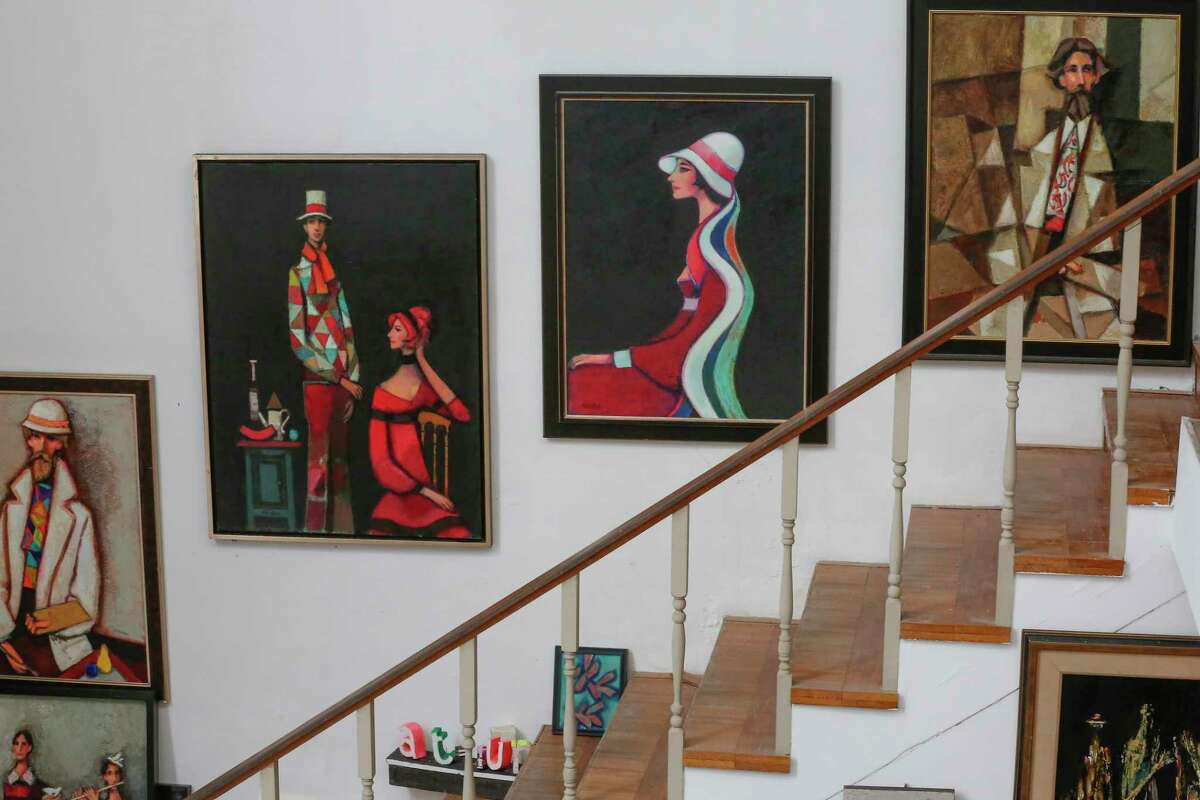 David Adickes' artwork in his home Tuesday, May 18, 2021, in Houston.