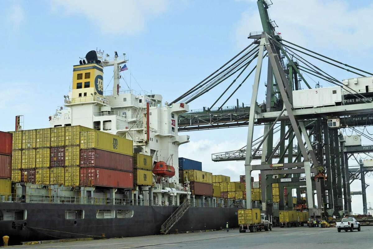 A slowdown in global trade in 2020 hit Houston's economy.