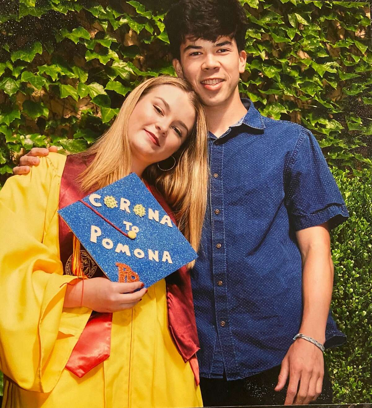 Dixie Lewis and Ross Schultz, shown at her graduation from Berkeley High School in 2020, died in a head-on collision.