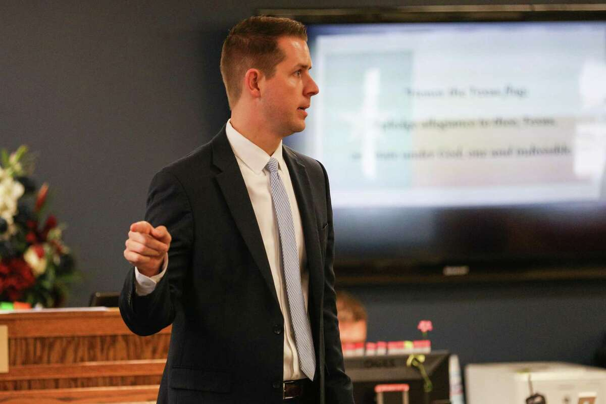 Prosecutor Andrew James, as seen in the 359th District Court during a trial May 8, 2018, is warning intoxicated motorists ahead of No Refusal Operations.