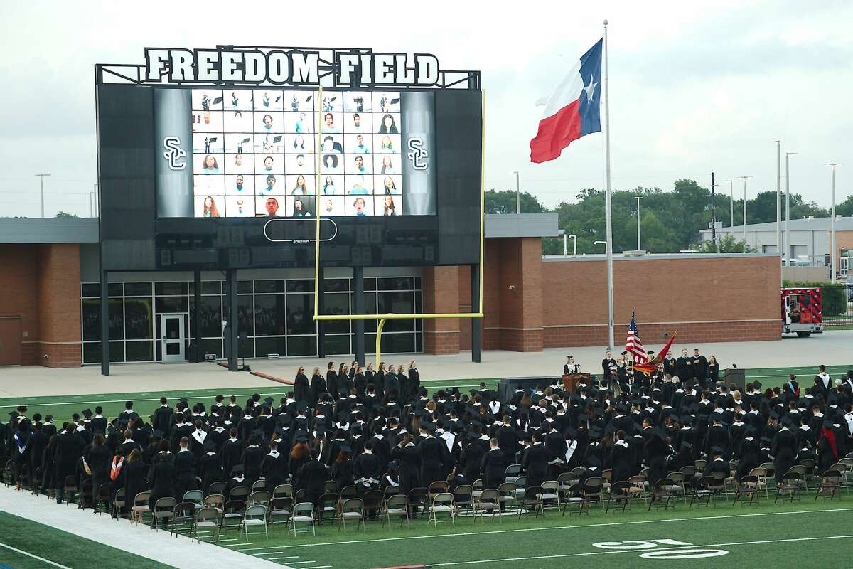 Shadow Creek High School graduation was held at Alvin ISD Freedom Field for graduation Thursday, May 27.