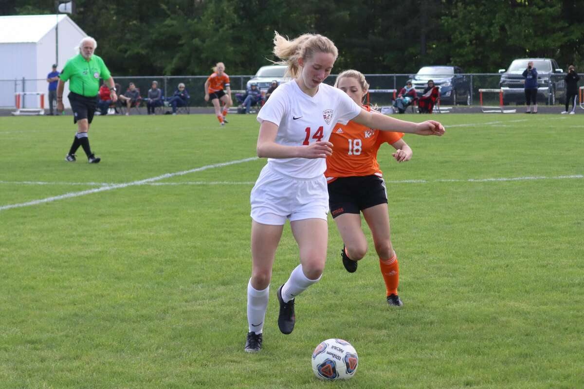 Benzie Central plays Kingsley in the first round of girls soccer districts on May 26.