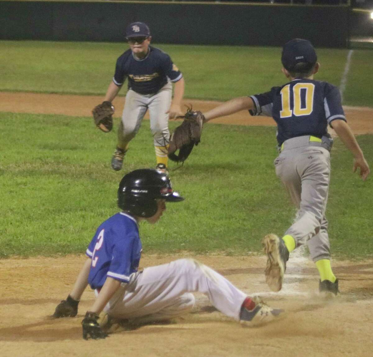 It's after 10 p.m. and Jackson Dempsey scores the winning run Thursday night. The team trailed most of the game, before scratching out an 11-10 win over the No. 7 Thunder in seven innings.