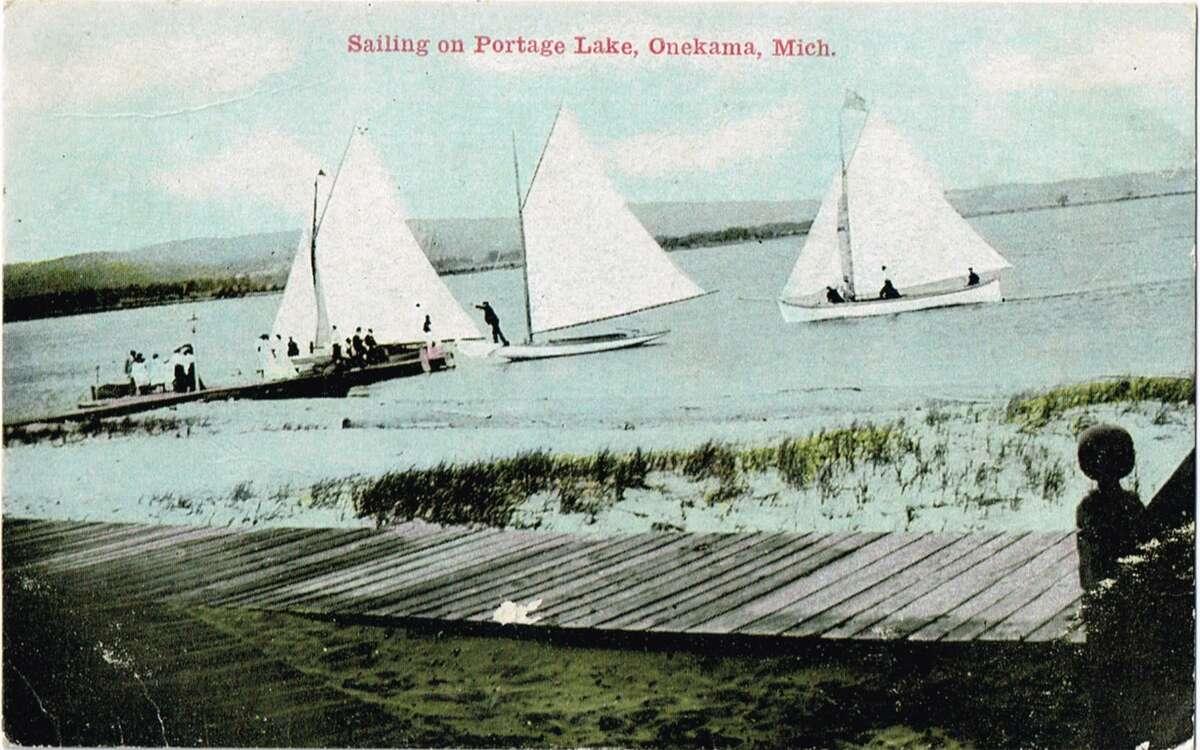 Sailing on Portage Lake, 1910. (Courtesy photo)