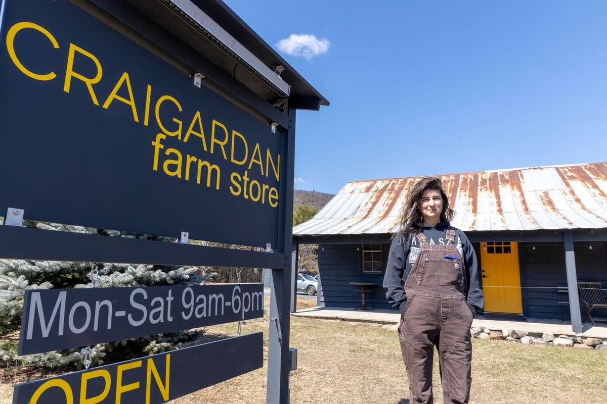 Janelle Schwartz works at Craigardan, an Elizabethtown-area nonprofit where employees must ration their use of satellite internet. (Mike Lynch/Adirondack Explorer)