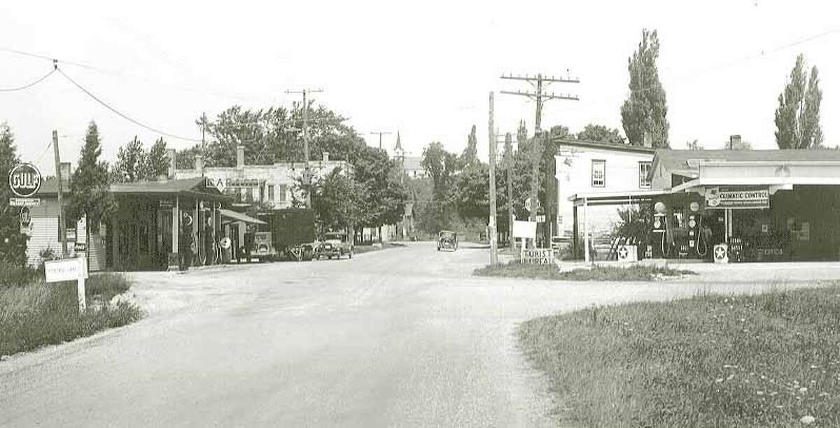 Entering Onekama with the Blue Slipper Tavern on the left. (Courtesy photo)