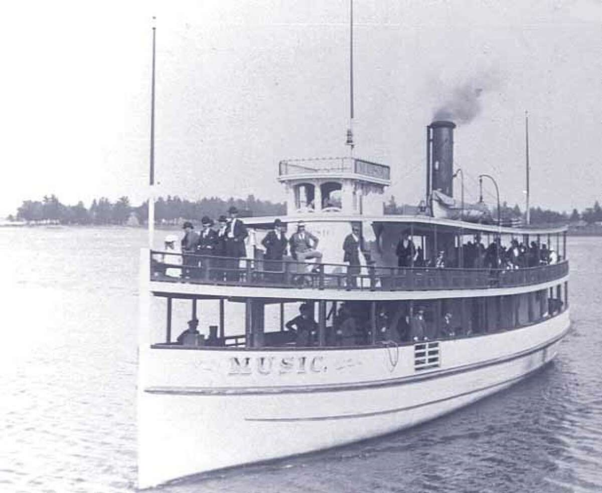 The Music featured live music performances on board to entertain passengers. However, in 1899 it caught fire and ended up off Portage Point Drive. (Courtesy photo)