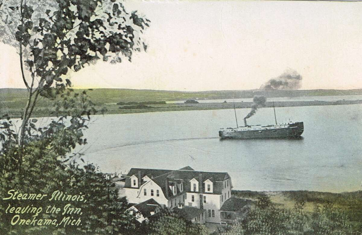 The steamer Illinois leaves Portage Point Inn in 1912. (Courtesy photo)