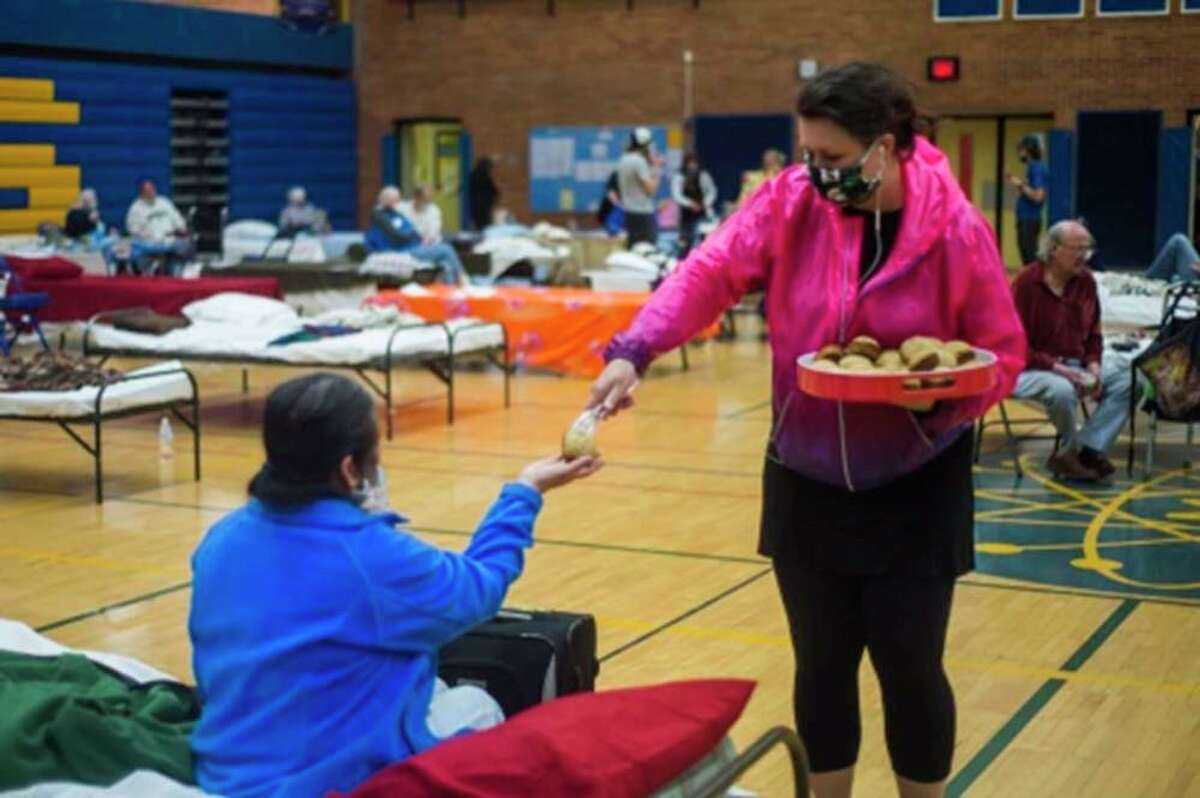 Midland Public Schools, on the night the alarms were ringing and the flood waters were rising, opened the doors of the Midland High School gym as an emergency shelter and welcomed neighbors who had to leave their homes with just a moments' notice. (Photo provided)
