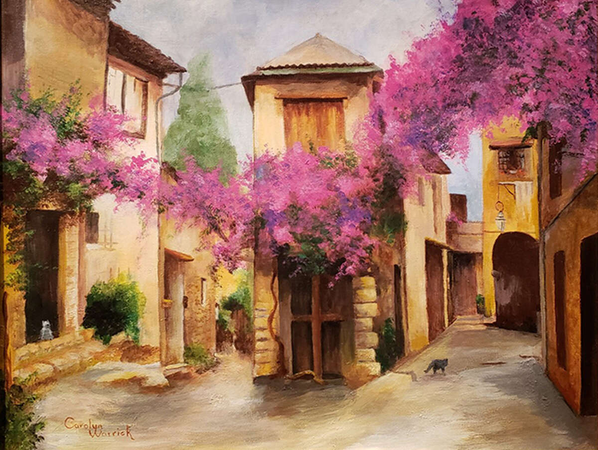 Acrylic Category Honorable Mention: 'Cagnes-sur-Mer' by Carolyn Warrick