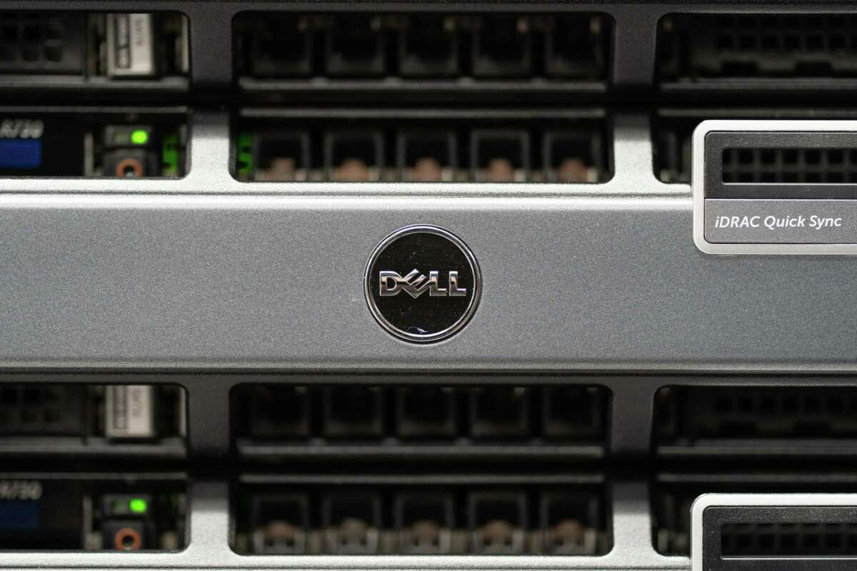Dell Technologies computer components in the Comet petascale supercomputer at the at the University of California San Diego in San Diego on March 1, 2021.
