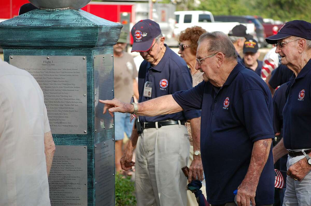 Vets find their names on The Honor Flight Eagle Garden there, where we remember those who fought for us in World War II at Memory Park.