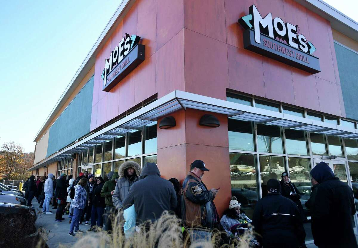 A Moe's Southwest Grill in Connecticut, a franchised restaurant that some advocates worry could be hurt by a proposal on work schedules.